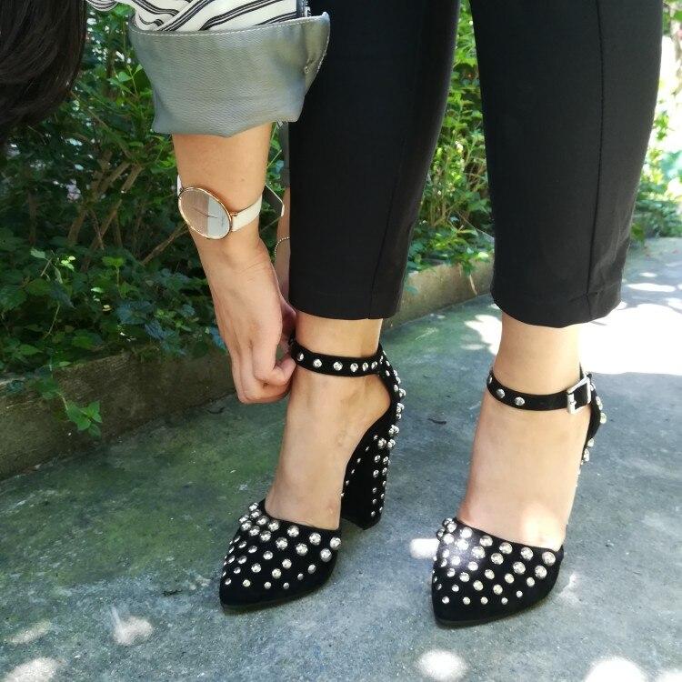 Casual Pie Mujeres D0126 Elegante Prom Puntiagudo Zapatos Dedo Tamaño Del Yifsion Sexy 4 Black Us Llegada Alto Nueva 15 Tacón Bombas fxnv0H