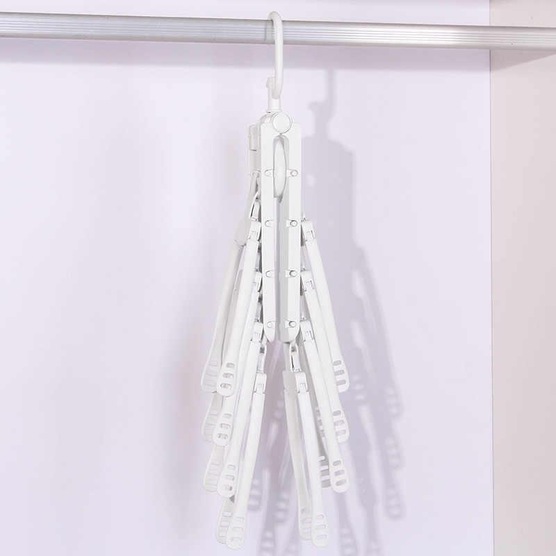 8 em 1 Plástico de Secagem Racks de Cabides de Lavanderia Multifuncional Peito Quarto Roupas Clipes Gancho Cabides De Viagem