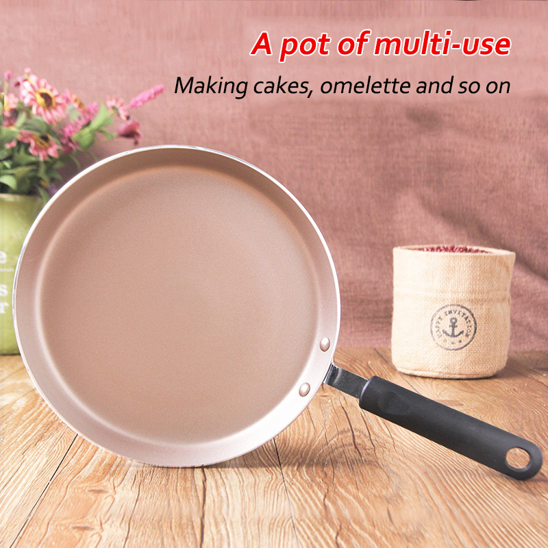Non-stick Copper Frying Pan With Ceramic Coating And Induction Cooking Oven & Dishwasher Safe  Pancake No-hot Western Handle Pan