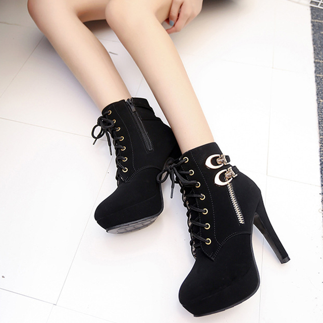cad33ac37ce High Heels ladies shoes woman Boots Platform Ankle pumps Women Shoes high  heel Boots flat zapatos de mujer tacones talon femme