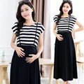 Summer Breastfeeding Dress Fashion Striped Dresses Clothes for Breast Feeding Women Dress
