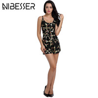 NIBESSER Summer Playsuits Women Sleveless Embroidery Jumpsuit Rompers 2017 Strap Coveralls Body Suit Femme Playsuits Beach