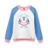 Hot Game OW D Va Cosplay Pullover Hoodies Sweatshirts Cotton Print Top Fashion And Beauty Clothing