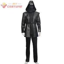 Green Arrow Dark Archer Malcolm Merlyn Black Hoodie Leather Uniform Suit Full Set Halloween Carnival Costumes For Adult Men