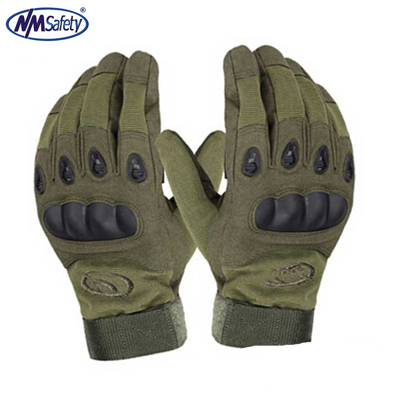 NMSAFETY Outdoor Riding hiking climbing training tactical gloves men's gloves armor protection shell full finger gloves commando outdoor climbing half finger gloves tactical combat tactical black hawk riding fitness boxing gloves