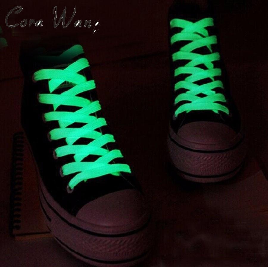 100CM 1 Pairs=2 PCS Sport Men Women Luminous Shoelace Glow In The Dark Fluorescent Shoelace Athletic Flat Shoe Laces ASL661A 2 pcs 100cm luminous glow in the dark fluorescence shoelace shoe lace polyester nylon multicolor worldwide sale