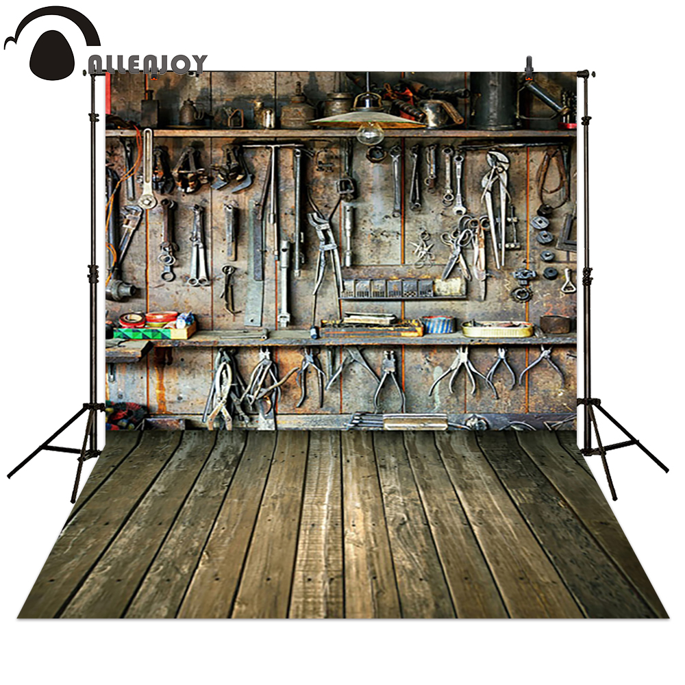 Allenjoy Photography backdrops Tools in dad's garage children background for photo studio