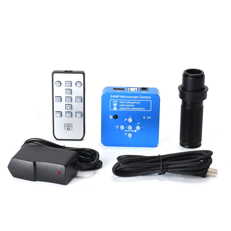 HD 34MP 2K 1080P 60FPS HDMI USB Industrial Electronic Digital Video Soldering Microscope Camera Magnifier for Phone Reparing - 2
