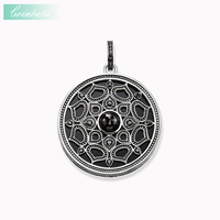 Pendant Black Royal Lotos Amulet Mother Of Pearl 925 Sterling Silver For Women Classic Gift Thomas