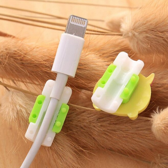 Cute Animals Cable Winder Earphone Protector USB Line Phone Holder Accessory Packing Organizers