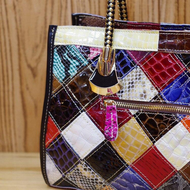 En Marée Couleur Femmes couleur Cuir Bandoulière Sac Poche À De Nouvelle Mode Oblique Multi Dames Multi 498 Colorful Sacs Teints Main wqH07t8