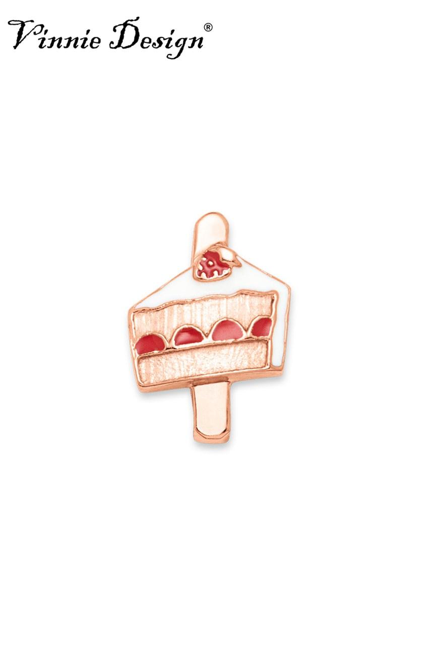 Vinnie Design Jewelry Piece of Cake Slide Charms fit on Keepers Bracelets Keys for Wrap Bracelet 10pcs/lot
