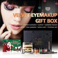 NICEFACE Cosmetics Eye Makeup Tools Set Glitter Eye Shadow Powder Mascara Eye Liner Eye Pencil Eyelash
