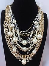 2018 Trend Fashion Pearl Necklace Costume Imitation Pearl Chain Fashion Pendant Choker Statement Necklaces Women