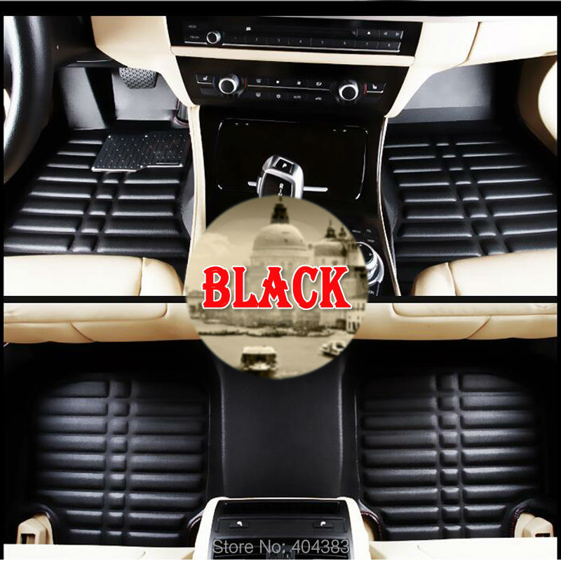 good quality car floor leather mats for Audi A1 A3 A4 A7 A8 Q3 Q5  3D car-styling heavy duty all weather carpet floor liner custom make waterproof leather special car floor mats for audi q7 suv 3d heavy duty car styling carpet floor rugs liners 2006