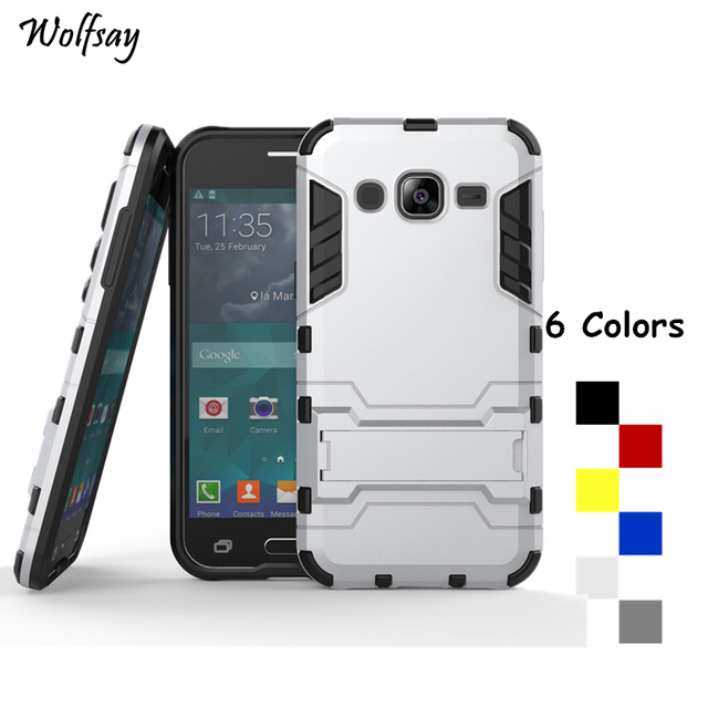 Wolfsay For Cover Samsung Galaxy J2 Case Shockproof Robot Armor Phone Case For Samsung Galaxy J2 Phone Cover For Samsung J2