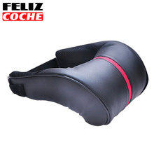 FELIZCOCHE Universal Black Car Seat Covers Korea Fouring Microfiber Pu Car Seat Neck Rest Headrest With A U-shaped A3516