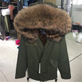 top quality brand 2016 New big raccoon fur hooded winter jacket women parka natural real fur coat for women thick warm liner