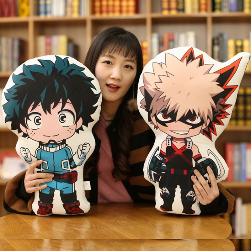 1Pc 48cm Anime Exhibition Cute Toys My Hero Academia Doll Plush Soft Pillow Toy Birthday Gifts Stuffed Brinquedos Toy Collection photography children s background birthday vintage bear balloons garland digital printing party send folded studio photo prop