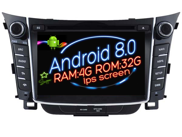 ips screen android 8 0 car dvd navi player for hyundai i30. Black Bedroom Furniture Sets. Home Design Ideas