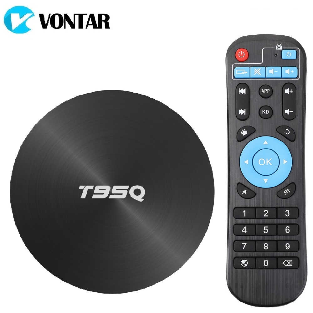 T95Q Tv Box Android 9.0 4 Gb 32 Gb 64 Gb Smart Tv Box Amlogic S905X2 Quad Core 2.4G & 5 Ghz Wifi Bt 100M 4K Mediaspeler Set Top Box