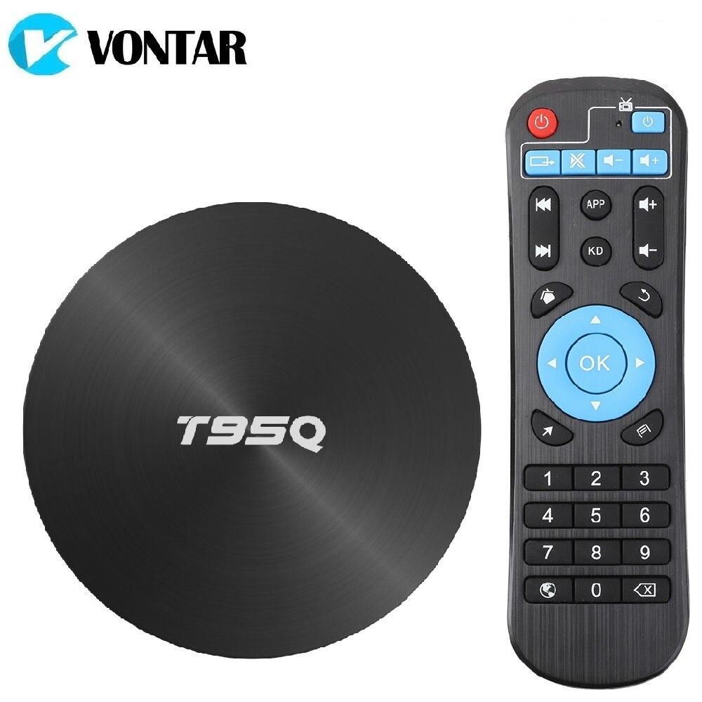 4 GB 64 GB Android 8.1 TV BOX T95Q Smart TV Box Amlogic S905X2 Quad Core 2.4G & 5 GHz double Wifi BT4.1 1000 M H.265 4 K lecteur multimédia
