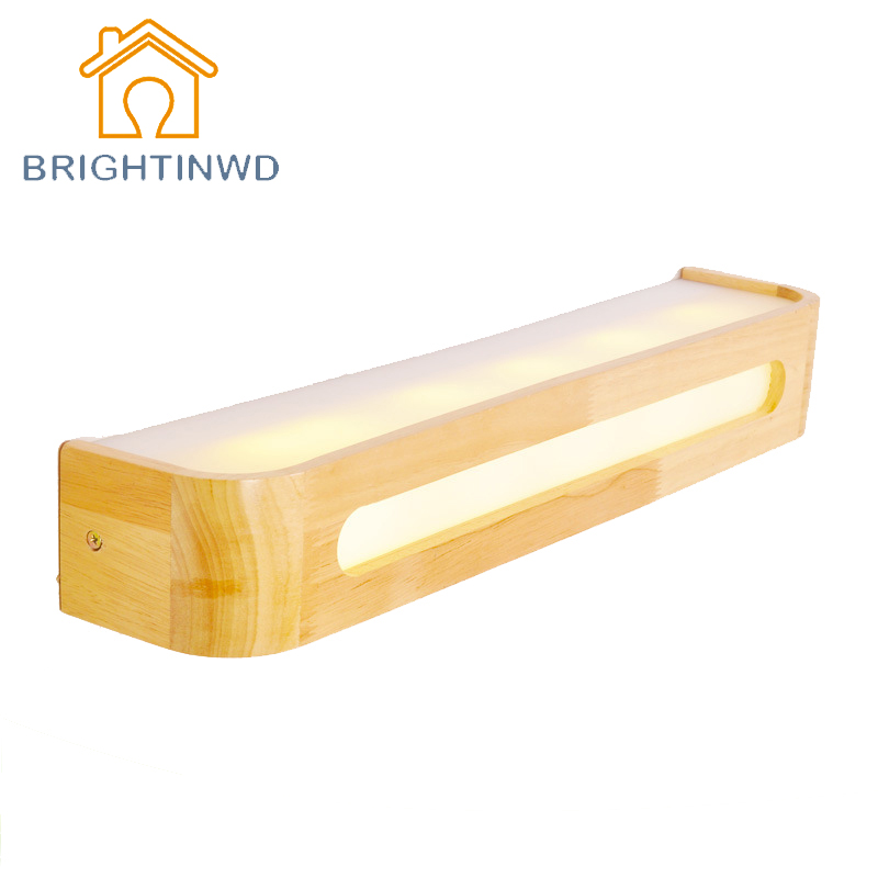 AC220V Modern Led Lamp Acrylic Wooden Wall Lamp Mirror Lights Sconce For Bedroom Home Lighting Wall Sconce Solid Wood Wall Light modern lamp trophy wall lamp wall lamp bed lighting bedside wall lamp
