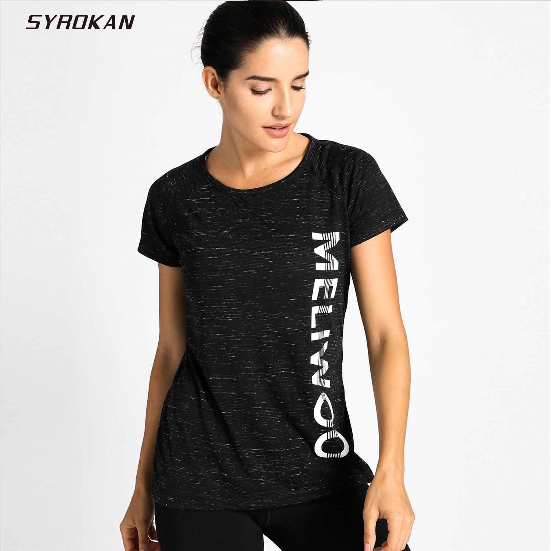 SYROKAN Women's Activewear Mesh Workout Tee Top Short Sleeve Running T-Shirt lettuce edge glitter mesh tee