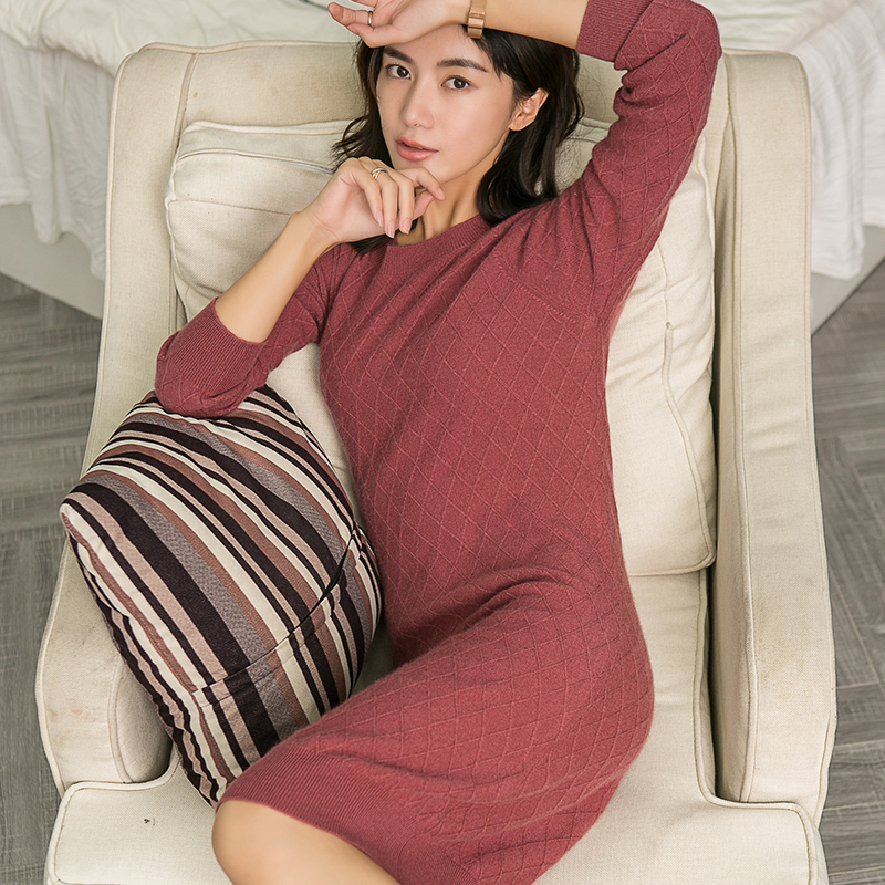 Women Sweater 100 Pure Cashmere Knitted Pullovers Oneck 5Colors Long Style Sweaters Woman Soft Fashion Knitwear
