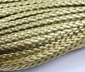 Wholesale Metallic Gold  100meters 328 feet  7mm Wide  Flat Faux Braid Leather Cord, Bracelet Cord, DIY Accessory Cord