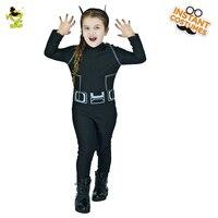 בנות ילדים חמוד קיטי תלבושות חתול שחורות קוספליי תחפושת ליל כל הקדושים קרנבל מסיבת משחק התפקידים