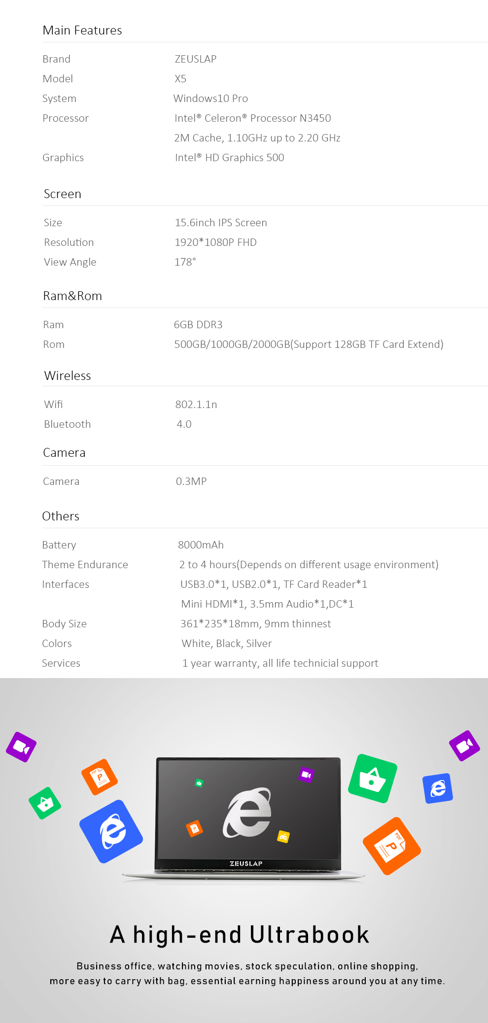 X5-N3450 HDD