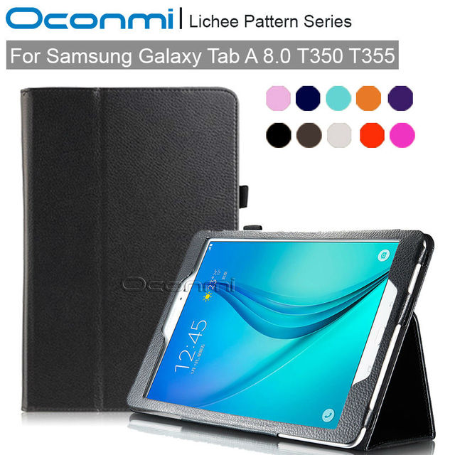 PU leather case for Samsung Galaxy Tab A 8.0 T350 T355 SLIM SMART case for Samsung TabA 8.0 SM-T350 SM-T355 tablet cover