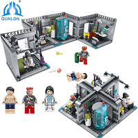 Qunlong Toys City Police Biochemical Lab Building Blocks Compatible Legoe Technic City Classic Figures Bricks Toys
