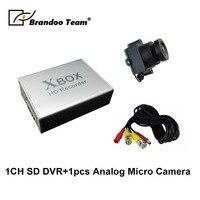 1 канальная CCTV DVR D1 Разрешение работать с аналоговый мини видеорегистратор безопасности комплект, включающий в себя 1 шт. аналоговый Micro Каме