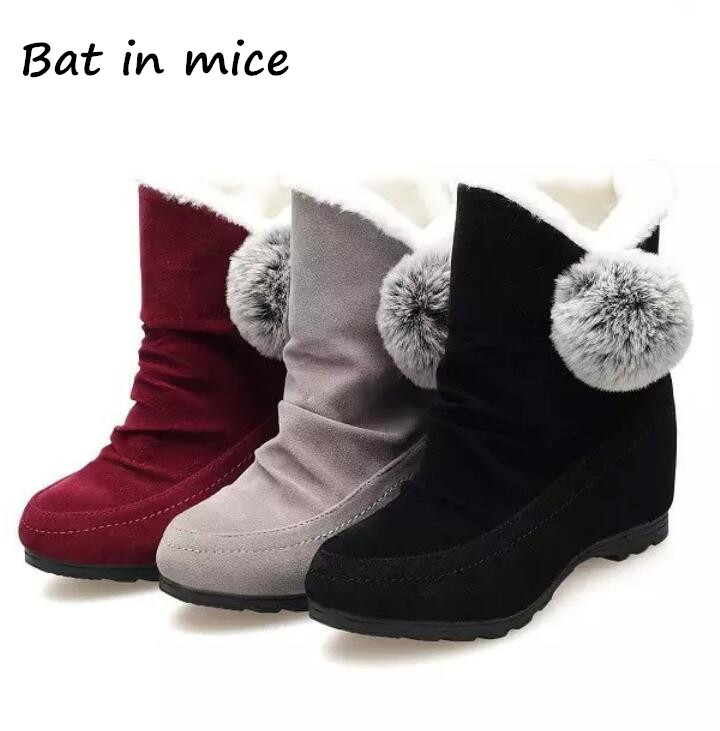 B.I.M. 2017 NEW Women Winter Boots Suede Warm Platform Snow Ankle Boots Women Shoes Round Toe Female Botas Mujer S073 aphixta women winter boots flat with warm platform snow ankle boots women shoes round toe female fur butterfly knot botas mujer