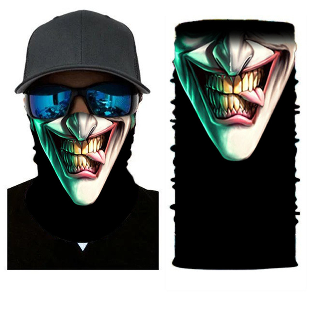 2018 Hot 3D Printed Protective Dust Mask Magic Head Face Mask Seamlessly Windproof Anti-UV Multi Wear For Biker Motorcycle Mask monster printed halloween decor head mask page 8