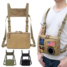 Chest Bag Adjustable Tactical Chest Rig Shoulder Bag Waist Packs Chest Recon Bag Tools Pouch Outdoor Hunting Accessories outdoor hunting tactical chest rig adjustable padded modular military vest mag pouch magazine holder bag platform