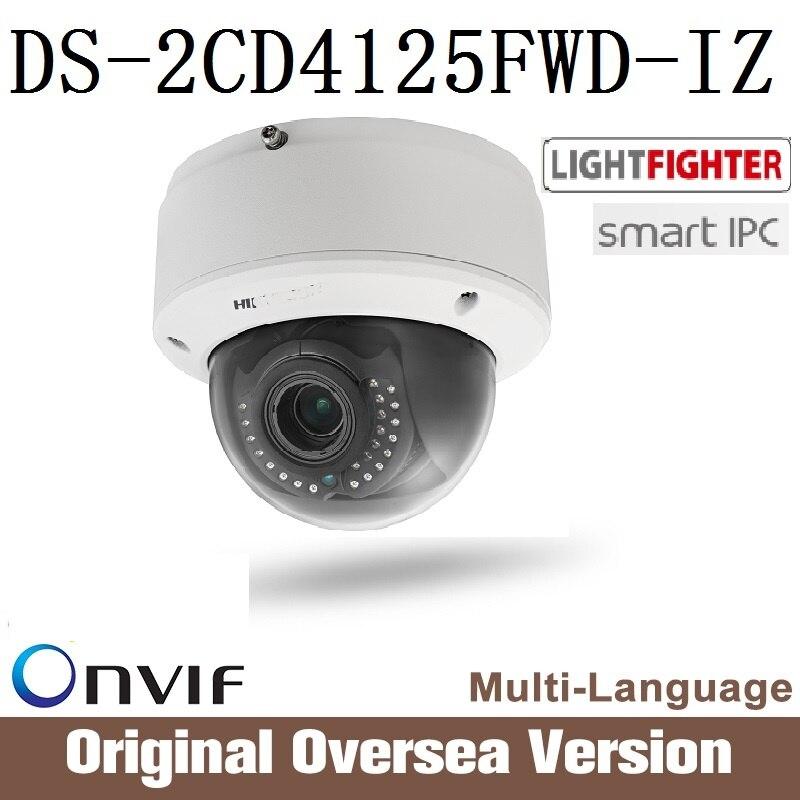 HIKVISION smart Ip Camera DS-2CD4125FWD-IZ 2mp Poe original Cctv 1080p English Infrared Night Onvif Cmos firmware RJ45 New 2017 smart junior 2 cl cd