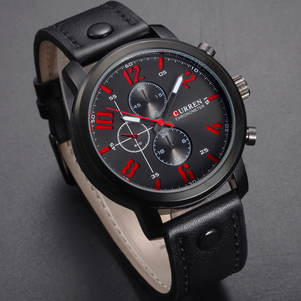 2015 Curren Luxury Brand Watches Male Fashion Casual Quartz Watch Classic Leather Strap Men Sports Wristwatch Relogio Masculino fashion dali brand leather leather watch luxury classic a6