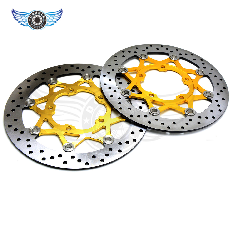 high quality  motorbike brake disc rotors motorcycle  Front Brake Discs Rotor For Suzuki GSXR1000 2005 2006 2007 2008 new brand motorcycle accessories gold front brake discs rotor for suzuki gsxr1000 2005 2006 2007 2008