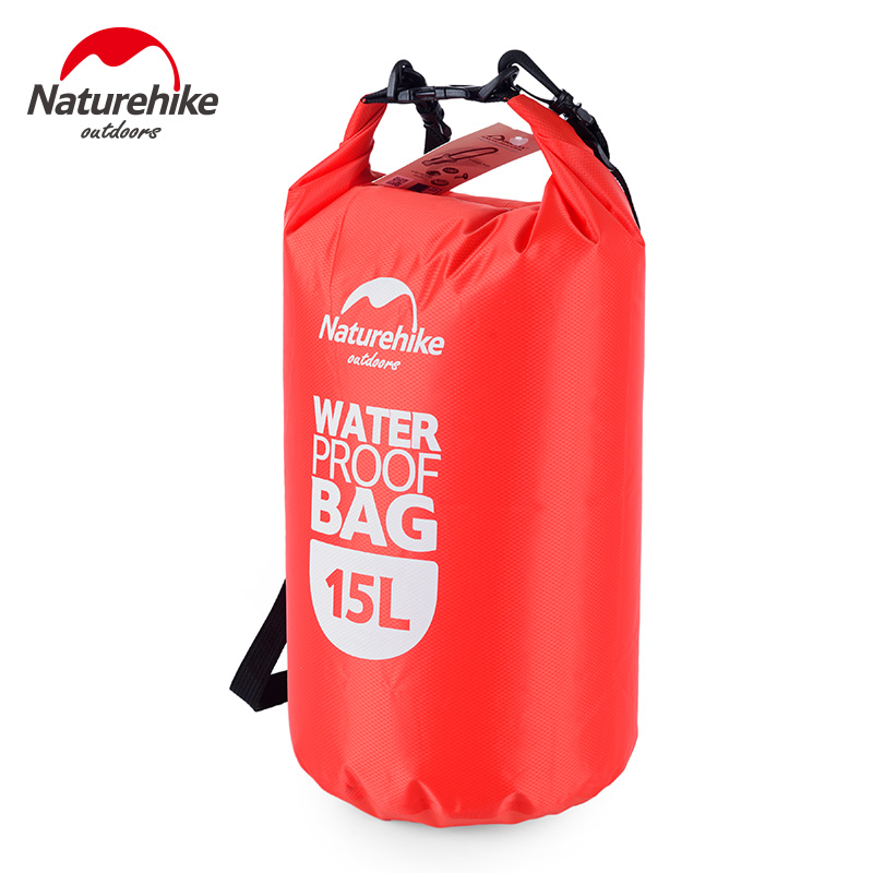15L Naturehike Waterproof bag Swimming bag handbag Outdoor drifting rafting boat SLR phone DC beach bag trips packet orange blue