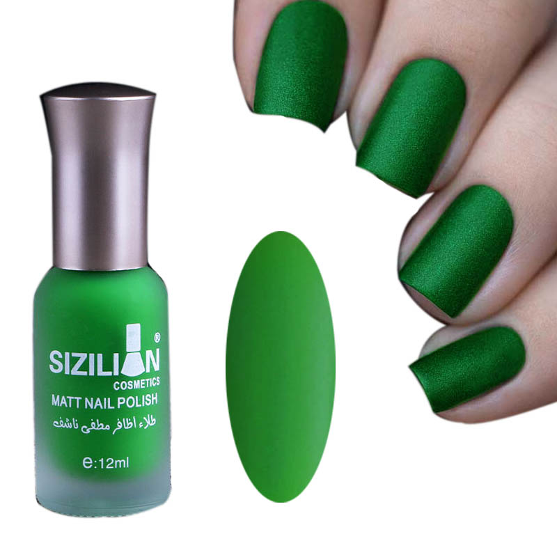 Profession Women Beauty 1 Bottle 12ml Matte Dull Nail Polish Fast Dry Long-lasting Nail Art Varnish Lacquer Nail Color