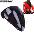 POSSBAY For Honda CBR 600 F4i 2001 2002 2003 2004 2005 2006 2007 Motorcycle Wind Deflector Windshield Windscreen Double Bubble