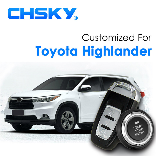 Chsky Car Rfid Keyless Start Entry System Push Stop On Engine Remote Ignition Alarm For Toyota Highlander