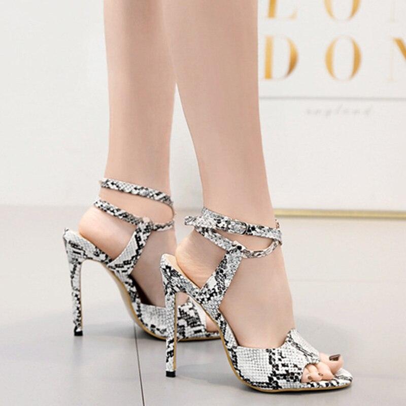 100% QualitäT Sexy Damen High Heels Sandalen Frauen Sommer Schuhe 2019 Mode Sandalen Frau Partei Schuhe Super Hohe Dünne Ferse 12 Cm A1230 100% Hochwertige Materialien