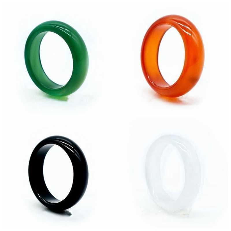 6 มม. แหวนหินและผู้หญิงเครื่องประดับ carnelian แหวนเครื่องประดับแหวน bijoux femme bague homme SR01 หมั้นแหวน