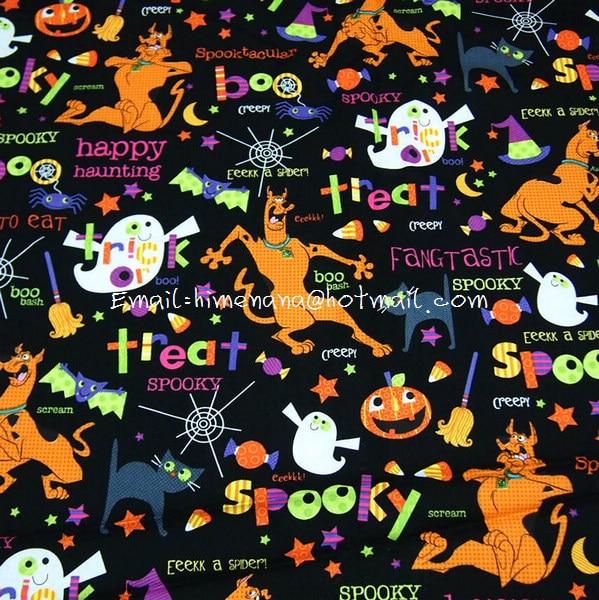 free shipping sc003 1 yard sdlp cotton woven fabric cartoon characters scooby doo halloween black w140 in fabric from home garden on aliexpresscom