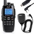 TYT DM-UVF10 256CH DPMR Digital Walkie Talkie DTMF Dual Band Presunto Rádio Transceptor + Cabo USB + Programa BaoFeng Handheld falante