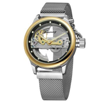 FORSINING Luxury Top Brand Men Automatic Mechanical Wristwatches Hallow Out skeleton Men's Watches Gifts Clocks For Male